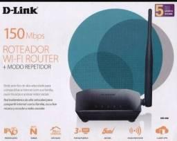 Modem + repetidor de sinal Wi-fi - marca D-link / Roteador Wi-fi