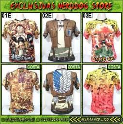 Título do anúncio: Camisas de Estampa Total (Exclusivas NerdDog Store) - Geek, Nerd, Animes