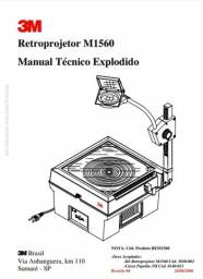 Título do anúncio: Rteoprojetor 3M 1560 sem uso fora da caixa