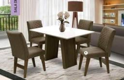 Mesa de Jantar 4 Cadeiras Vigo -- Entrega e montagem Na Hora