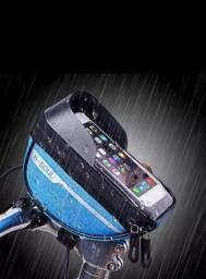 Título do anúncio: Bolsa Nova de bicicleta com tela sensível ao toque 6.3, bolsa de guidão de bicicleta.