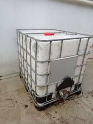 Reservatório Ibc gradeado / container / bombona 1000l com adaptador para mangueira
