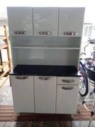 Armário de cozinha de aço 6 portas novo