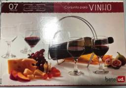 Taças para vinho- Conjunto para vinhos com 7 peças