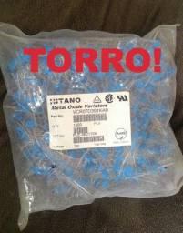 Torro! Componentes eletrônicos. Lote 1000 peças Varistor 250vac 7d391