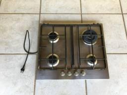 Fogão cooktop 4 bocas Electrolux GC60X Inox 127V