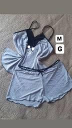 Pijamas novos e embalados
