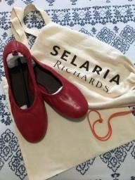 Sapatilha em couro Selaria Richards
