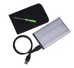 """Case para hd SATA de 2,5"""" (HD de Notebook) em Alumínio Pronta Entrega."""