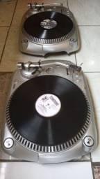 1 par de toca disco gemini Direct Drive profissional semi novo