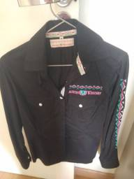 Camisa Country Preta Austin Western Tamanho M