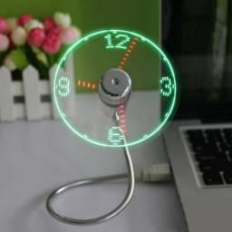 Ventilador e relógio USB Gadget lançamento