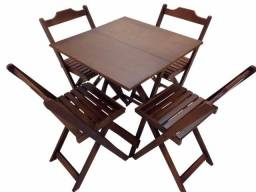 Conjunto NoVo ? Direto da Fabrica- Mesa com 2 ou 4 Cadeiras Dobráveis