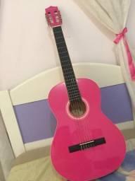 Violão rosa lindo