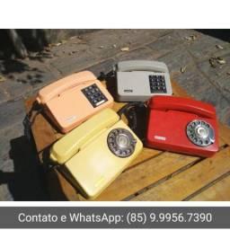 Valores na descrição Lote com 4 Telefone antigo