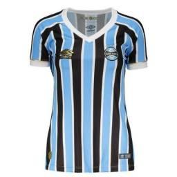 Camisa Oficial do Grêmio Feminina 2018 Tricolor e3efdabcaf64b