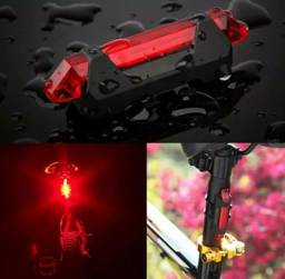 Lanterna Bike Traseira 4 Modos Recarregável