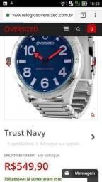 Relógio original com nota e garantia caixa leia