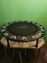 Semi nova Cama Elástica Preta - 32 Molas - Jump - Pano Preto