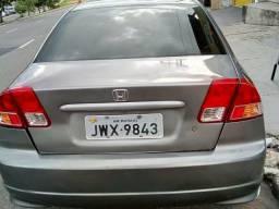 Honda Civic sedan 2004 completo/Quitado/Banco couro - 2004