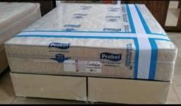 :: Promoçao Cama Box + Colchao Evolution Queen Size Probel 158x198 A PRonta Entrega