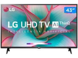 Smart TV 4K LED ips 43 Bluetooth Inteligência Artificial 3 HDMI 2 USB