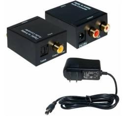 Conversor Óptica Coaxial Digital Para Rca Áudio e Vídeo