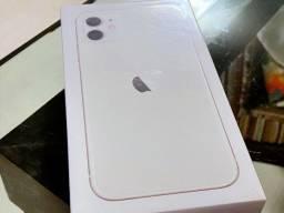 IPhone 11 Branco 128gb, NF + Garantia 1 ano, A2221, Anatel, Lacrado, Zero, Novo