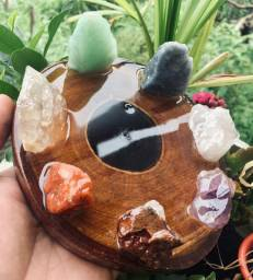 Incensário 7 Chakras Pedras Brutas