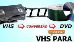 Conversão de VHS (fitas de video) para DVD em Nova Odessa