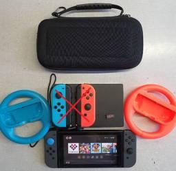 Nintendo Switch V1 Desbloqueado SxOs 256gb *Leia a Descrição