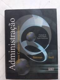 Livro de Administração Novo Cenário Competitivo Editora Atlas/ Bateman Snell
