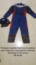 Fantasia Capitão América com peitoral
