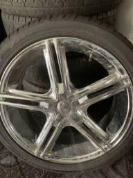 Título do anúncio: Rodas com pneus