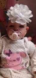 Bebê reborn menina em perfeito estado + enxoval completo
