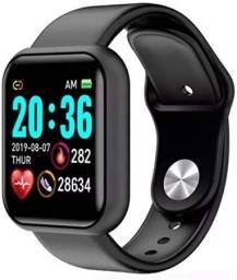 Relógio Smartwatch Novo, Branco, Preto e Rosa.