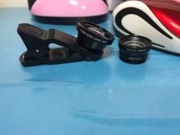 Kit com 03 lentes para celular