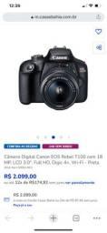 Câmera Digital Canon EOS Rebel T100 com 18 MP