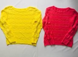 Título do anúncio: Blusas Tricot Seminovas Lindas Tamanho M