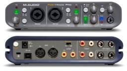 Título do anúncio: M-audio Fast Track Pro (com Caixa Original E Protools)