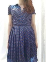 Título do anúncio: Vestido floral azul tam P