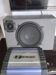 Caixa de som de carro com módulo