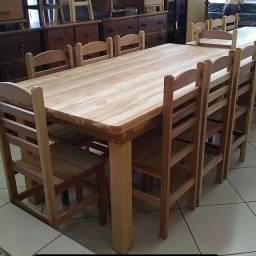 Título do anúncio: Mesa 2x1 com 8 cadeiras