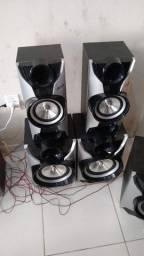 6 caixas de som