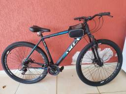 Bike Aro 29 com Freio a Disco e 21 Marchas