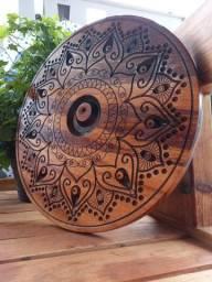Placa Mandala Olho Grego Em Madeira