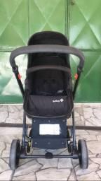 Carrinho + bebê conforto com base