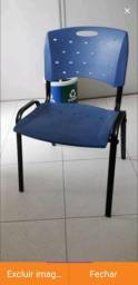 Cadeira fixa plastica Cavaletti Viva 35008,