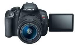 Câmera Canon T5i + lente 18-55 + Bateria Extra