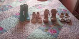 4 pares de sapato infantil femenino